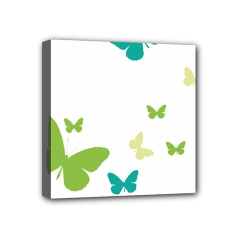 Butterfly Mini Canvas 4  X 4  (stretched)