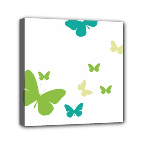 Butterfly Mini Canvas 6  X 6  (stretched) by Mariart