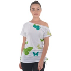 Butterfly Tie Up Tee by Mariart