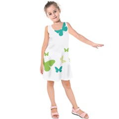 Butterfly Kids  Sleeveless Dress by Mariart