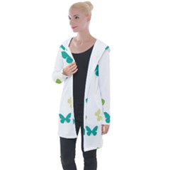 Butterfly Longline Hooded Cardigan by Mariart