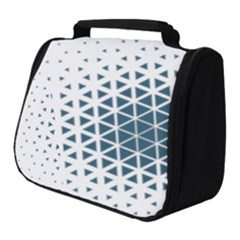 Business Blue Triangular Pattern Full Print Travel Pouch (small)