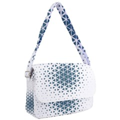 Business Blue Triangular Pattern Courier Bag