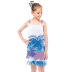 Coconut Tree Background Kids  Overall Dress by Jojostore