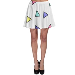 Color Triangle Wallpaper Skater Skirt by Jojostore