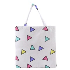 Color Triangle Wallpaper Grocery Tote Bag
