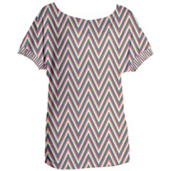 Chevron Retro Pattern Vintage Women s Oversized Tee by Jojostore