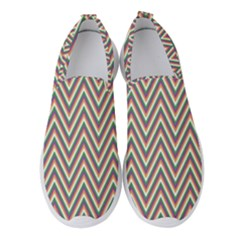 Chevron Retro Pattern Vintage Women s Slip On Sneakers by Jojostore