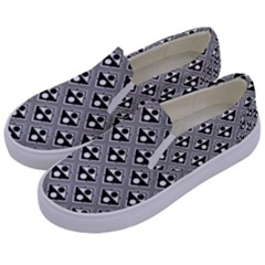 Background Triangle Circle Kids  Canvas Slip Ons by Jojostore