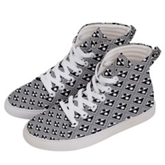 Background Triangle Circle Women s Hi Top Skate Sneakers by Jojostore
