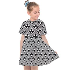 Background Triangle Circle Kids  Sailor Dress by Jojostore