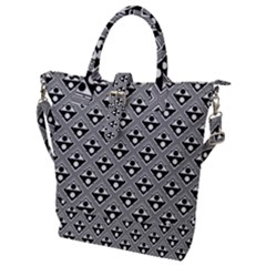 Background Triangle Circle Buckle Top Tote Bag