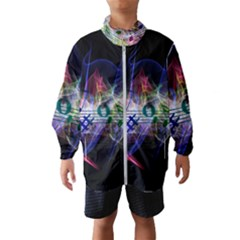 Brush Particles Music Clef Wave Windbreaker (kids)