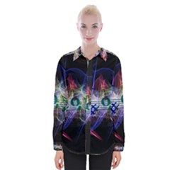 Brush Particles Music Clef Wave Womens Long Sleeve Shirt