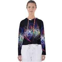 Brush Particles Music Clef Wave Women s Slouchy Sweat