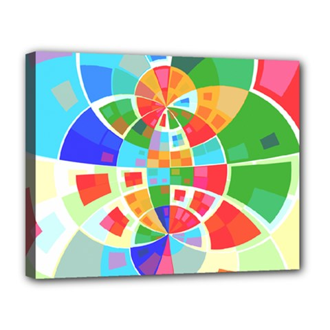 Circle Background Canvas 14  X 11  (stretched)