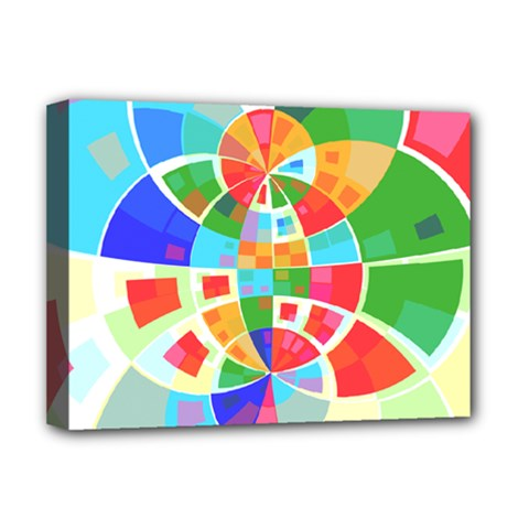 Circle Background Deluxe Canvas 16  X 12  (stretched)