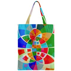 Circle Background Classic Tote Bag by AnjaniArt