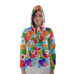 Circle Background Hooded Windbreaker (women) by AnjaniArt