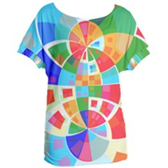 Circle Background Women s Oversized Tee by AnjaniArt