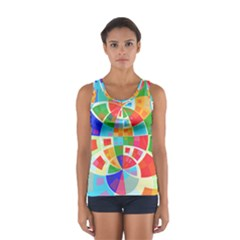 Circle Background Sport Tank Top