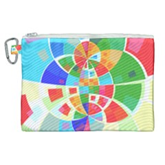 Circle Background Canvas Cosmetic Bag (xl)