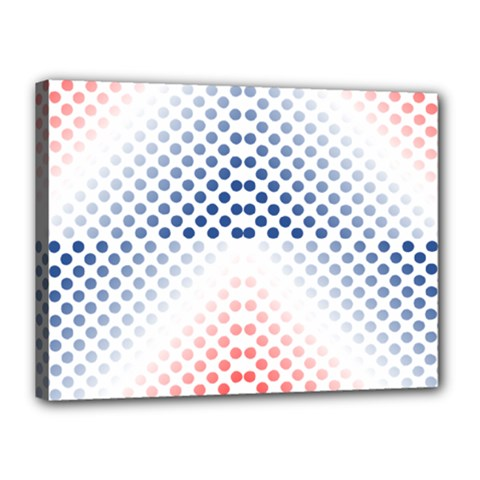 Dots Pointillism Abstract Chevron Canvas 16  X 12  (stretched)