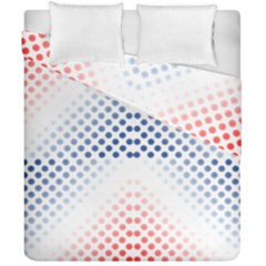 Dots Pointillism Abstract Chevron Duvet Cover Double Side (california King Size)