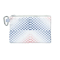 Dots Pointillism Abstract Chevron Canvas Cosmetic Bag (medium)