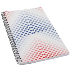 Dots Pointillism Abstract Chevron 5 5  X 8 5  Notebook