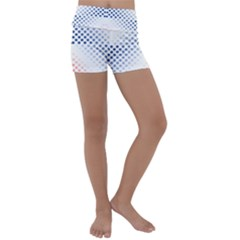 Dots Pointillism Abstract Chevron Kids  Lightweight Velour Yoga Shorts