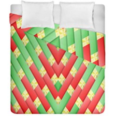 Christmas Geometric Duvet Cover Double Side (california King Size)