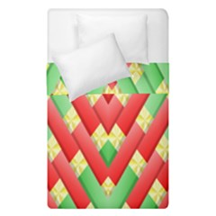 Christmas Geometric Duvet Cover Double Side (single Size) by AnjaniArt