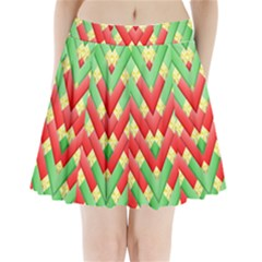 Christmas Geometric Pleated Mini Skirt by AnjaniArt