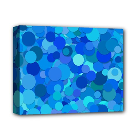 Blue Light Cyan Background Dot Deluxe Canvas 14  X 11  (stretched) by AnjaniArt