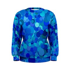 Blue Light Cyan Background Dot Women s Sweatshirt