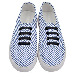 Directional Lines Stripes Movement Women s Classic Low Top Sneakers