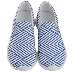 Directional Lines Stripes Movement Men s Lightweight Slip Ons