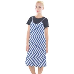 Directional Lines Stripes Movement Camis Fishtail Dress by AnjaniArt