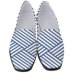 Directional Lines Stripes Movement Women s Classic Loafer Heels by AnjaniArt