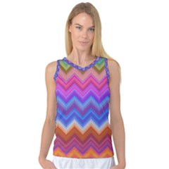 Chevron Zigzag Background Women s Basketball Tank Top