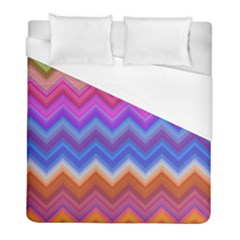 Chevron Zigzag Background Duvet Cover (full/ Double Size) by AnjaniArt