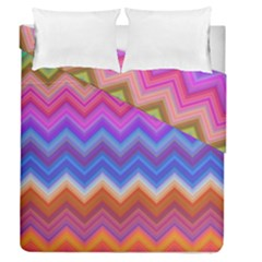 Chevron Zigzag Background Duvet Cover Double Side (queen Size) by AnjaniArt