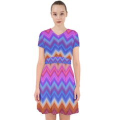 Chevron Zigzag Background Adorable In Chiffon Dress by AnjaniArt