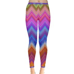 Chevron Zigzag Background Inside Out Leggings by AnjaniArt