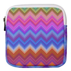 Chevron Zigzag Background Mini Square Pouch