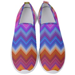 Chevron Zigzag Background Men s Slip On Sneakers by AnjaniArt