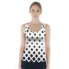 Garden Halftone Paving Racer Back Sports Top by AnjaniArt