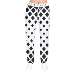 Garden Halftone Paving Velvet Drawstring Pants by AnjaniArt