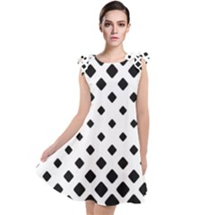 Garden Halftone Paving Tie Up Tunic Dress by AnjaniArt